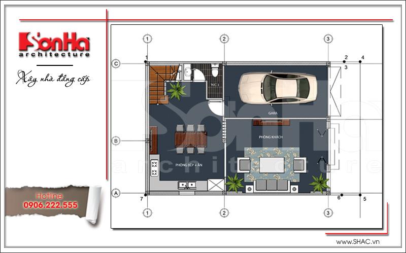 Kiến trúc nhà phố tân cổ điển Pháp 3 tầng tại Hải Phòng - SH NOP 0137 4