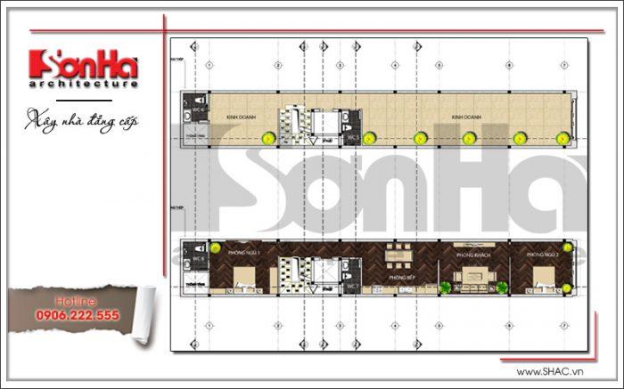 Mặt bằng công năng tầng 2-4-5 nhà phố 7 tầng tại Sài Gòn sh nop 0136