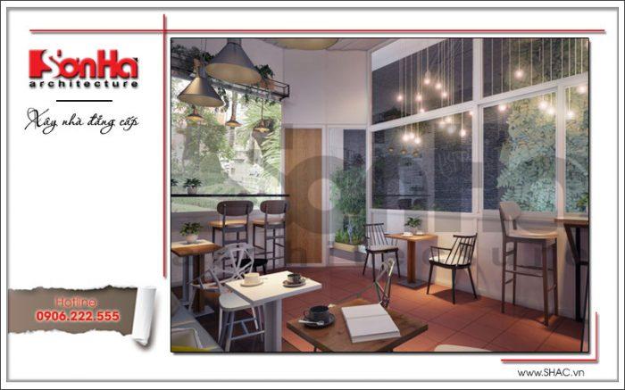 Nội thất quán cafe hiện đại đẹp 163 Nguyễn Đức Cảnh Hải Phòng sh bck 0042
