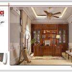 4 mẫu nội thất phòng đọc nội thất gỗ biệt thự sang trọng sh btp 0099