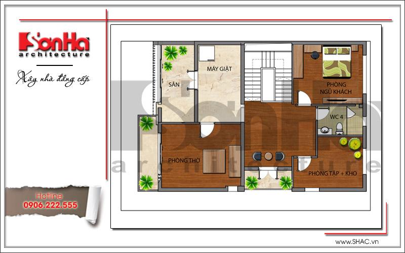 Mẫu biệt thự 3 tầng hiện đại thiết kế đẹp tại Quảng Ninh – SH BTD 0054 7