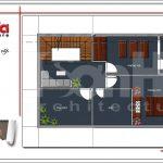Mặt bằng công năng tầng 3 nhà phố tân cổ điển Pháp 3 tầng tại Hải Phòng sh nop 0137