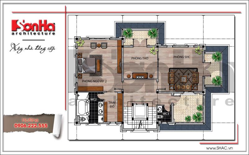 Thiết kế biệt thự 3 tầng tân cổ điển đẹp tại Quảng Bình - SH BTP 0099 18