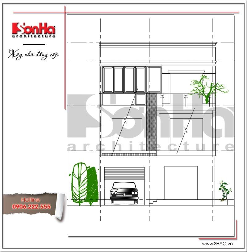 Mẫu biệt thự 3 tầng hiện đại thiết kế đẹp tại Quảng Ninh – SH BTD 0054 3
