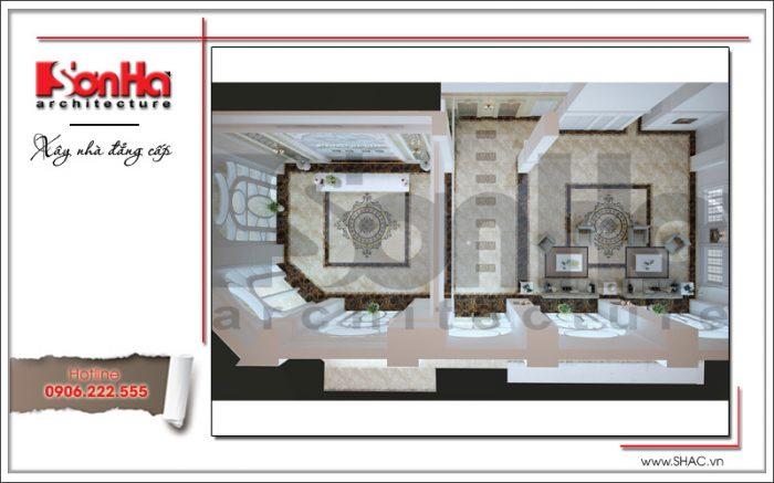 Mẫu thiết kế nội thất khu lễ tân khu tiếp khác khách sạn cổ điển sh ks 0033