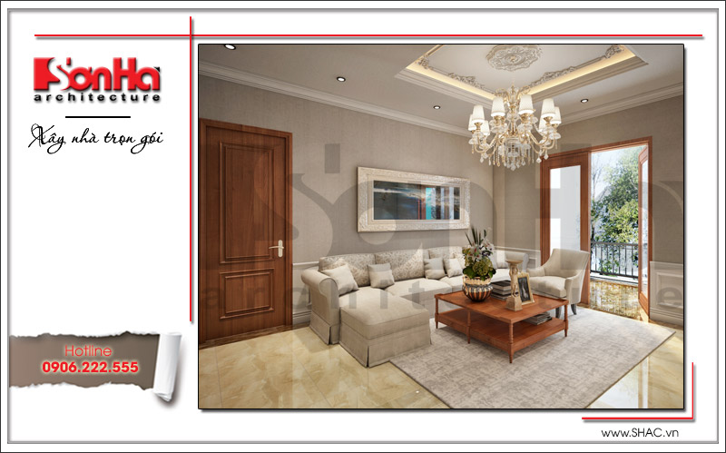 Thiết kế biệt thự 3 tầng tân cổ điển đẹp tại Quảng Bình - SH BTP 0099 8