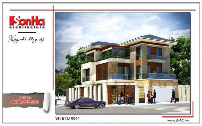 6 Phương án thiết kế cho ngôi biệt thự hiện đại sh btd 0044 2