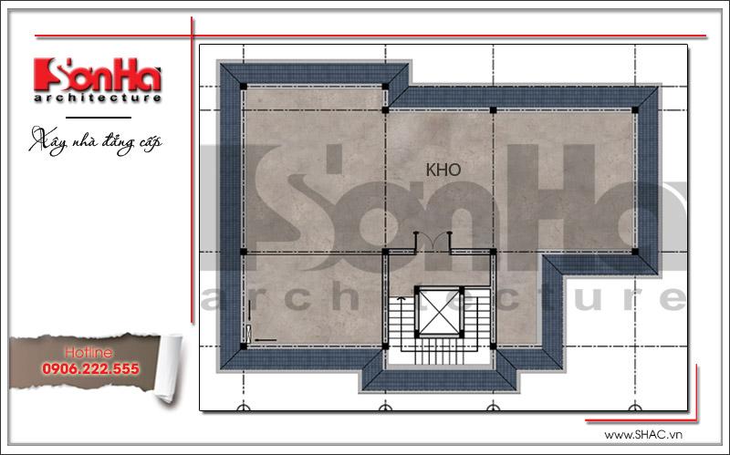Thiết kế biệt thự 3 tầng tân cổ điển đẹp tại Quảng Bình - SH BTP 0099 19