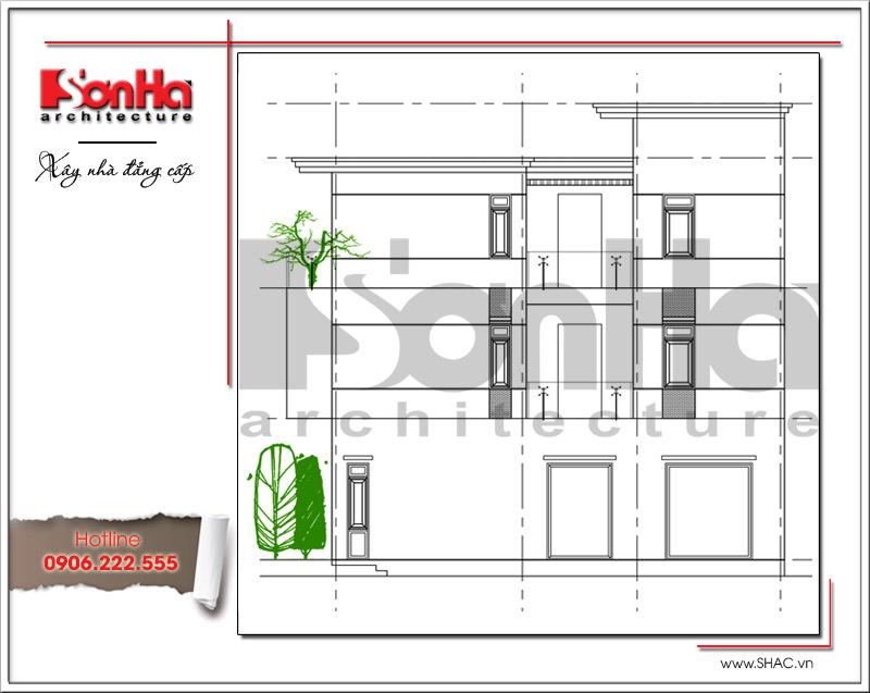 Mẫu biệt thự 3 tầng hiện đại thiết kế đẹp tại Quảng Ninh – SH BTD 0054 4