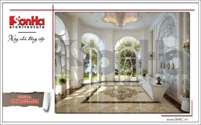 Mẫu nội thất khu lễ tân khách sạn cổ điển sh ks 0033