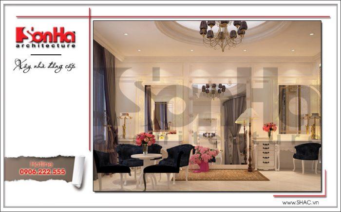 Thiết kế nội thất phòng trang điểm tại Hưng Yên