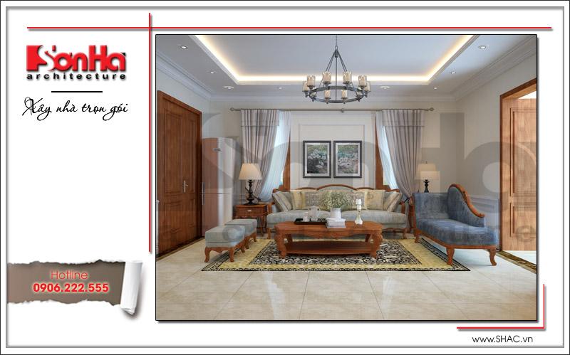 Thiết kế biệt thự 3 tầng tân cổ điển đẹp tại Quảng Bình - SH BTP 0099 9