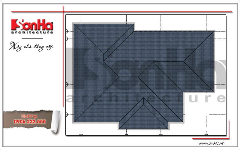 Thiết kế biệt thự 3 tầng tân cổ điển đẹp tại Quảng Bình - SH BTP 0099 20