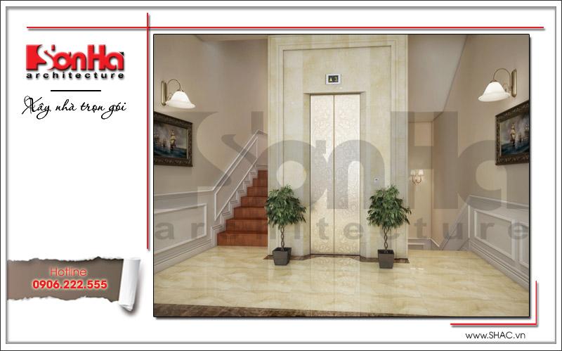 Thiết kế biệt thự 3 tầng tân cổ điển đẹp tại Quảng Bình - SH BTP 0099 12