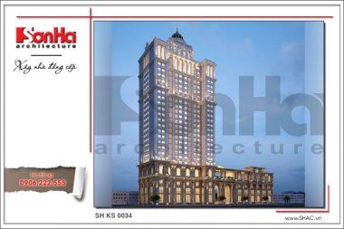 BÌA Thiết kế khách sạn 4 sao tại Bắc Ninh sh ks 0034