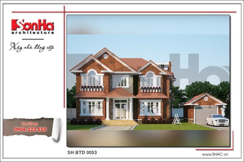 BÌA Thiết kế kiến trúc biệt thự hiện đại 2 tầng tại Quảng Bình sh btd 0053