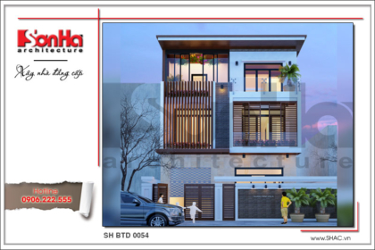 BÌA Thiết kế biệt thự hiện đại tại Quảng Ninh sh btd 0054