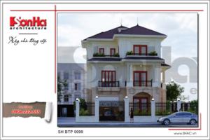 BÌA Mặt bằng công năng tầng 3 mái biệt thự tân cổ điển đẹp tại Quảng Bình sh btp 0099