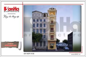 BÌA Thiết kế nhà phố cổ điển Pháp 5 tầng tại Hải Phòng sh nop 0135