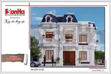 BÌA Thiết kế biệt thự cổ điển Pháp tại Quảng Bình sh btp 0100