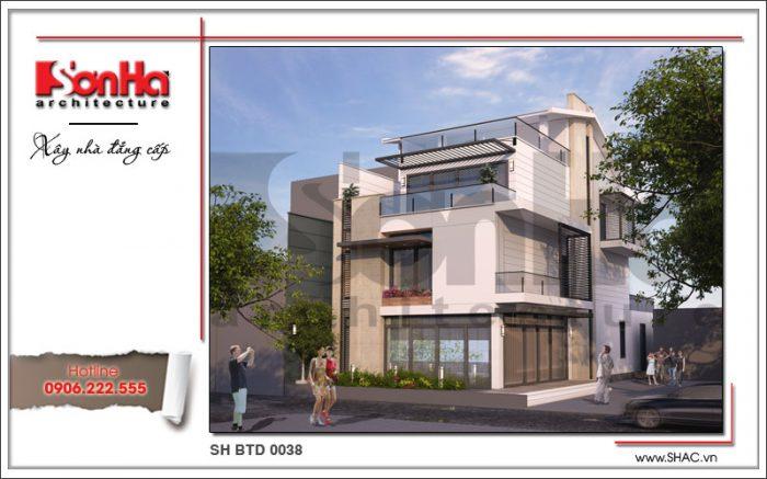 Kiến trúc biệt thự hiện đại 4 tầng sang trọng được đề xuất cho thiết kế biệt thự tại Hưng Yên