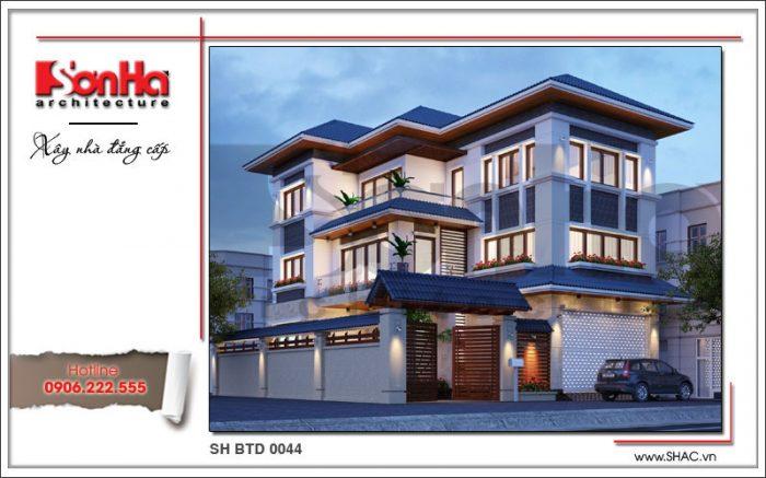 Các phương án thiết kế đẹp cho biệt thự hiện đại 3 tầng điển hình cho biệt thự tại Vũng Tàu
