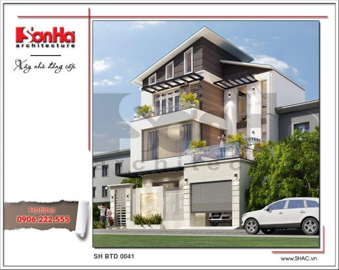 Phương án thiết kế biệt thự 3 tầng hiện đại đẹp mắt với gam màu tinh tế hợp thời và rất cá tính