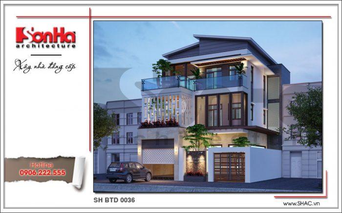 Mẫu thiết kế biệt thự 3 tầng hiện đại và trẻ trung nổi bật với gam màu sang trọng ấn tượng