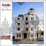 Mẫu thiết kế biệt thự lâu đài cổ điển Pháp btld 0026