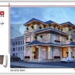 Mẫu biệt thự 3 tầng kiến trúc hiện đại tại Quảng Bình btd 0055
