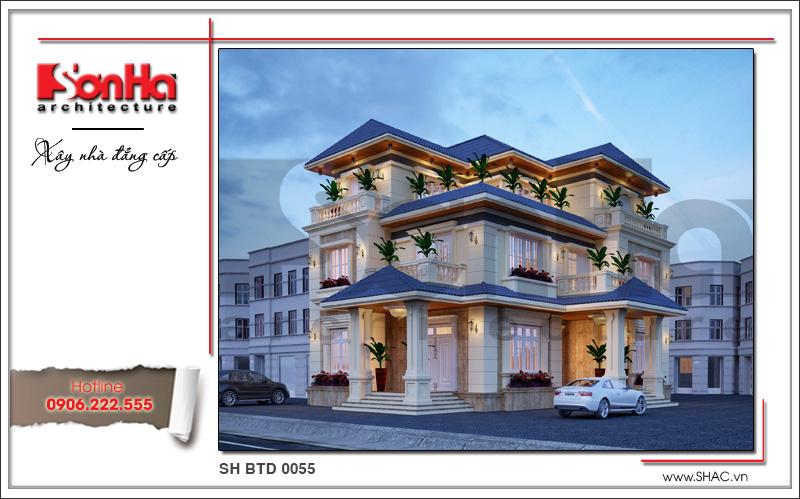 Mẫu biệt thự 3 tầng kiến trúc hiện đại tại Quảng Bình
