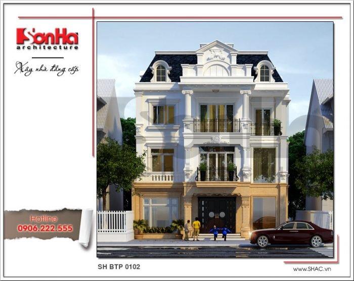 Mẫu thiết kế biệt thự Pháp tại Hà Nội sh btp 0102