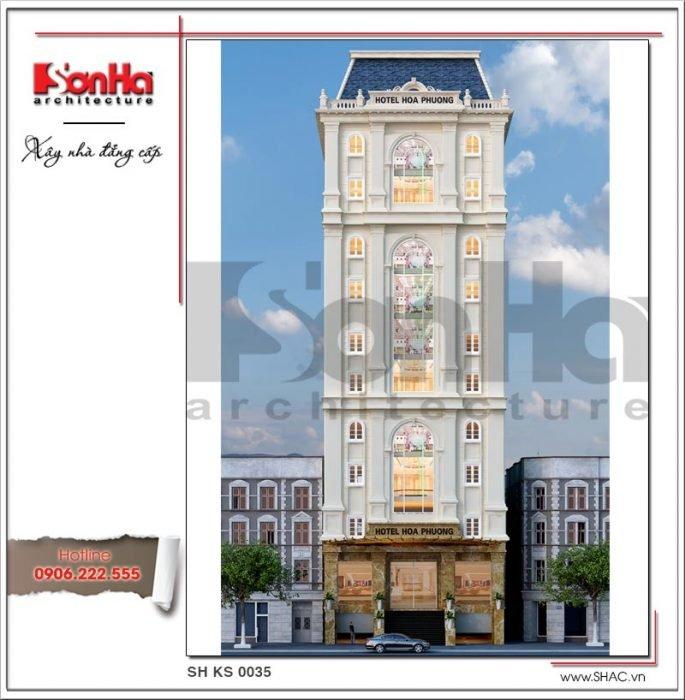Mẫu thiết kế khách sạn 3 sao 12 tầng tại Hải Phòng sh ks 0035