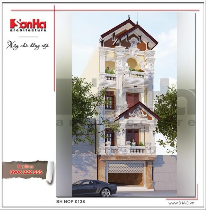 mặt tiền nhà phố kiểu pháp đẹp và sang trọng được ưa chuộng
