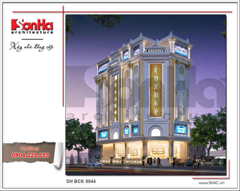 Thiết kế kiến trúc quán karaoke 7 tầng tại Vĩnh Phúc - SH BCK 0044 1