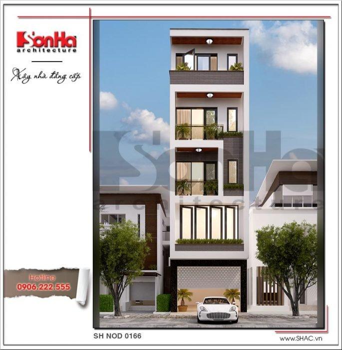mẫu nhà phố hiện đại 5 tầng đẹp tại tphcm