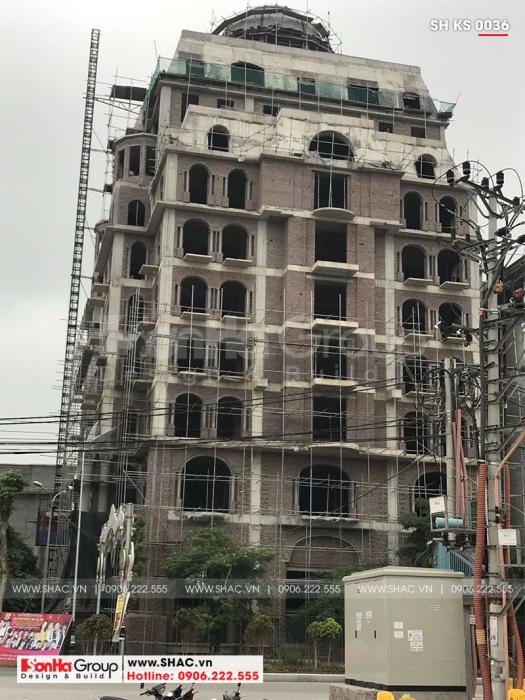 1 Ảnh thực tế khách sạn 4 sao kiến trúc cổ điển tại Bắc Ninh sh ks 0036