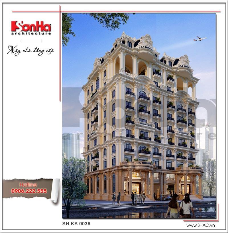Thiết kế khách sạn cổ điển tiêu chuẩn 4 sao tại Bắc Ninh - KS 0036 1