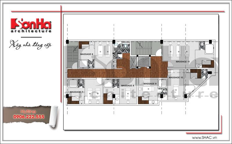 Thiết kế kiến trúc quán karaoke 7 tầng tại Vĩnh Phúc - SH BCK 0044 18
