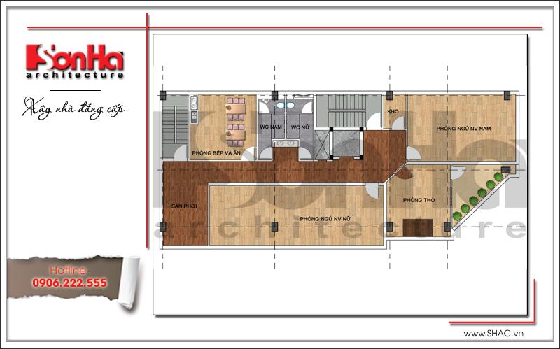 Thiết kế kiến trúc quán karaoke 7 tầng tại Vĩnh Phúc - SH BCK 0044 19