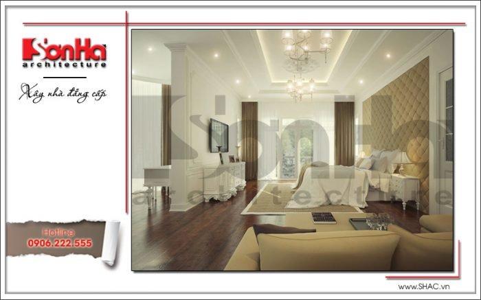 Thiết kế nội thất phòng ngủ biệt thự Pháp tại Hà Nội sh btp 0102