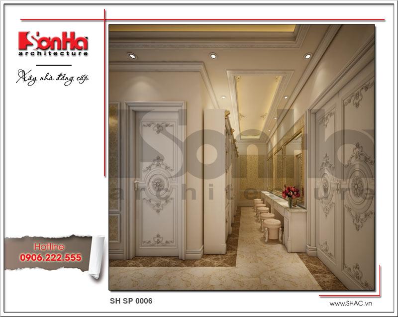 Thiết kế nội thất phòng thay đồ spa tại Phú Quốc sh sp 0006