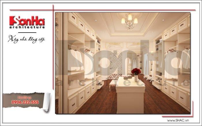 Thiết kế nội thất phòng thay đồ biệt thự Pháp tại Hà Nội sh btp 0102
