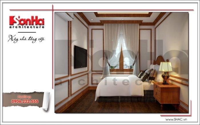Thiết kế nội thất phòng ngủ giúp việc biệt thự lâu đài tại Hà Nội sh btld 0025