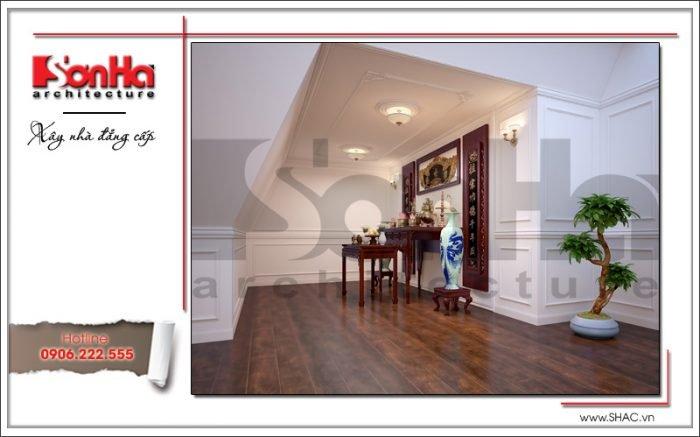 Thiết kế nội thất phòng thờ biệt thự Pháp tại Hà Nội sh btp 0102
