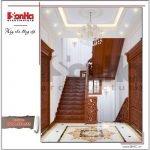 Thiết kế nội thất sảnh thang biệt thự lâu đài tại Hà Nội sh btld 0025