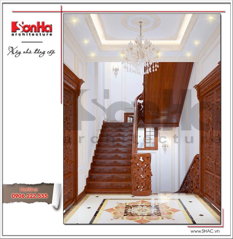 Mãn nhãn với thiết kế biệt thự lâu đài 4 tầng tại Hà Nội – SH BTLD 0025 21