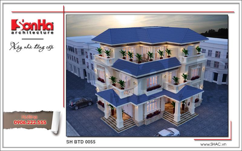 Mẫu biệt thự 3 tầng kiến trúc hiện đại thiết kế đẹp tại Quảng Bình - SH BTD 0055 2