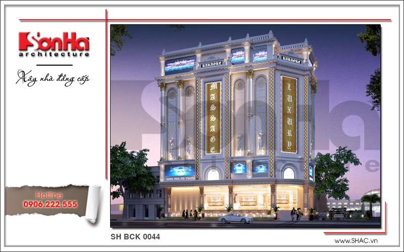 Thiết kế kiến trúc quán karaoke 7 tầng tại Vĩnh Phúc - SH BCK 0044 2