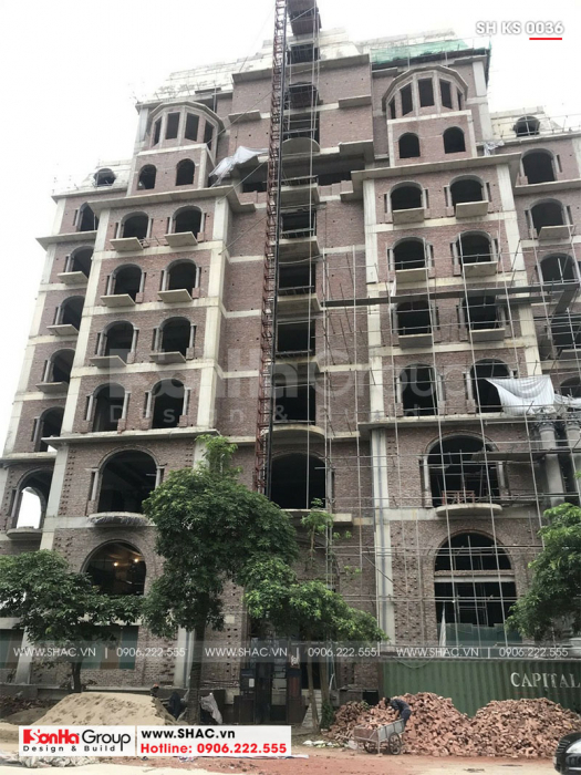 2 Ảnh thực tế khách sạn 4 sao cổ điển mặt tiền 12m7 tại Bắc Ninh sh ks 0036